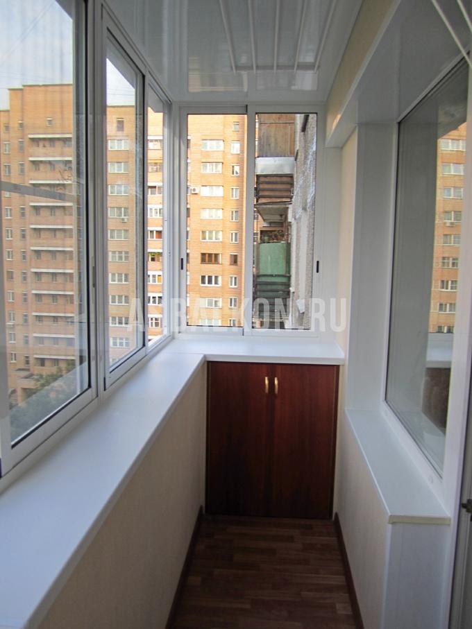 """Остекление балконов в хрущевке """"под ключ"""" цена застекления б."""