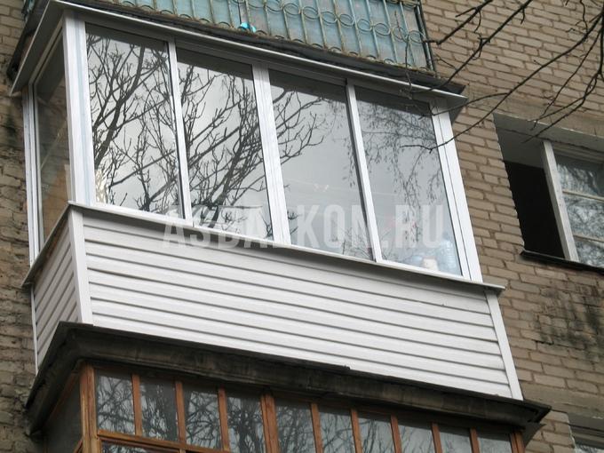 Наружная отделка лоджий сайдингом, внешняя отделка балконов .