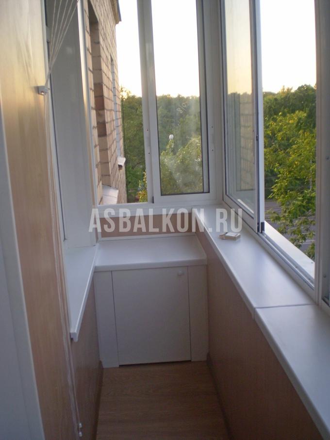 Панорамное остекление сварного балкона..