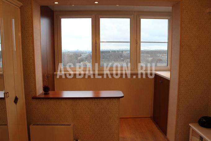 Фотогалерея - объединение балкона с комнатой - страница 2.