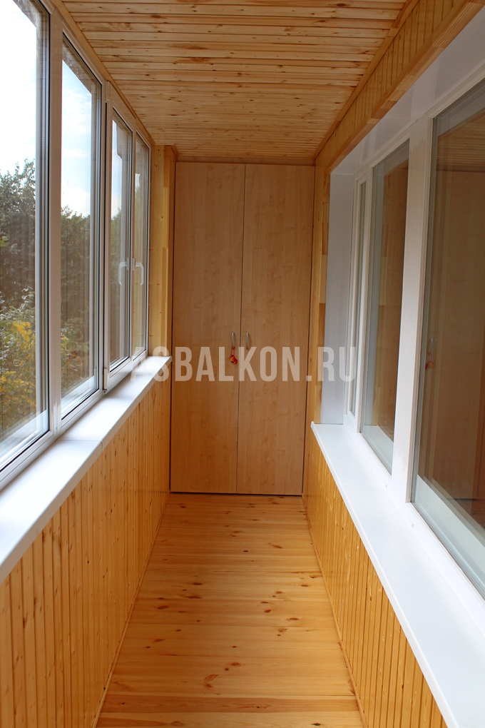 Отделка балконов деревянной вагонкой - страница 2.