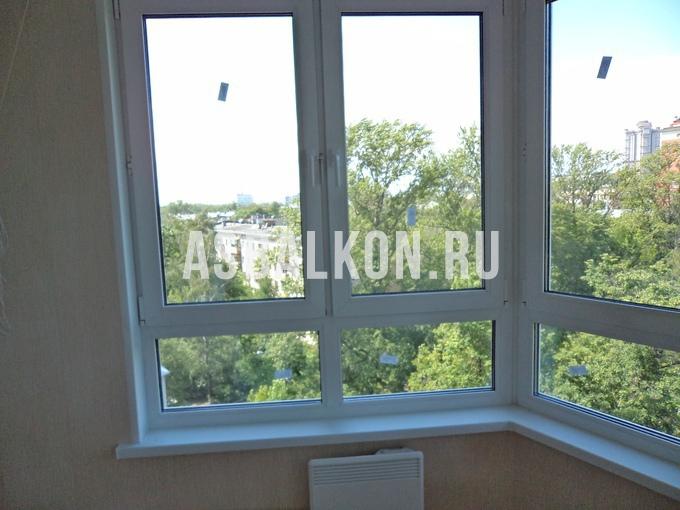 Французское остекление балкона и лоджии в москве.