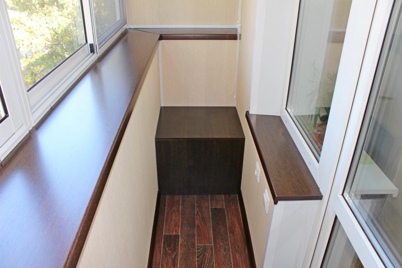 Фотографии наших работ по отделке балконов и лоджий